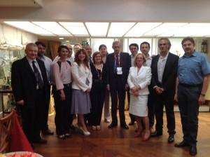 Dopo l'incontro con Napolitano, foto di gruppo con i Sindaci