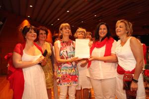 il giorno della consegna firme in Regione da parte delle Donne Democratiche
