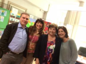 con Andrea De Maria, Carla Cantone e Alessandra Moretti