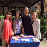 in campagna elettorale, a Correggio