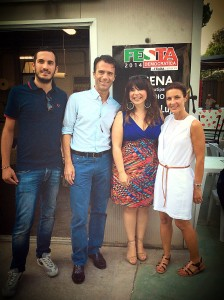 con Enzo Lattuca, Sandro Gozi e Alessandra Moretti