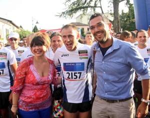 il campione tra me e il sindaco di Castelnovo Maurizio Bottazzi