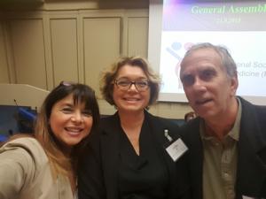 con Fulvia Signani e Walter Malorni dell'Istituto Superiore di Sanità