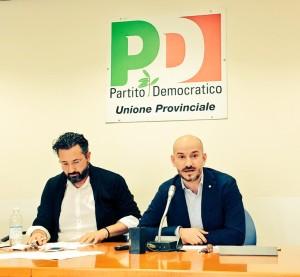 Andrea Costa con il segretario regionale Paolo Calvano